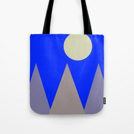 Mountains and Moon Tote Bag