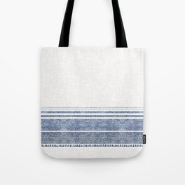 FRENCH LINEN CHAMBRAY TASSEL Tote Bag