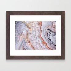 Crazy lace agate Framed Art Print