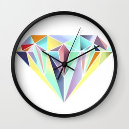 Diamonds are a girls best friend Wall Clock
