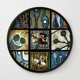 Beatnik Collage Wall Clock