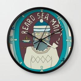 Beard Sea Man Wall Clock