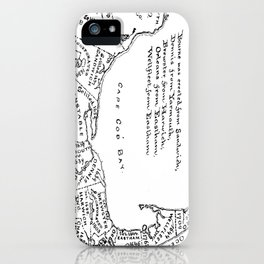 Vintage Map of Cape Cod (1890) iPhone Case