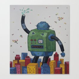 Robots Don't Dream Anymore Canvas Print