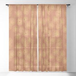 Orange Nasturtium Seamless Patten Sheer Curtain