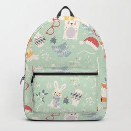 Christmas polar animals pattern 002 Backpack