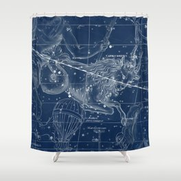 Capricorn sky star map Shower Curtain