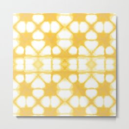 Shibori Ahi Yellow Metal Print