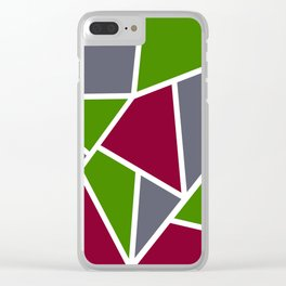 """Geometric print """"Stained"""" Clear iPhone Case"""