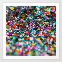 confetti Art Prints featuring Confetti by Laura Ruth
