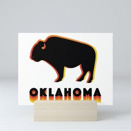 Retro Buffalo Mini Art Print