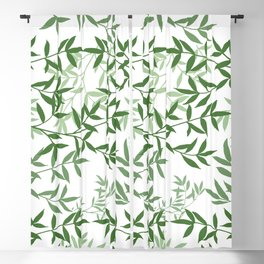 Branching out greenery Blackout Curtain