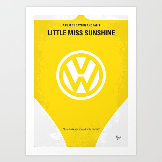 No103 My Little Miss Sunshine movie poster Art Print