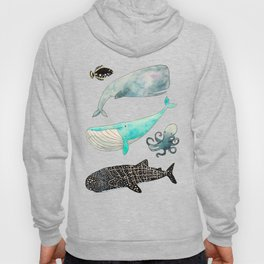 Whales and friends Hoody