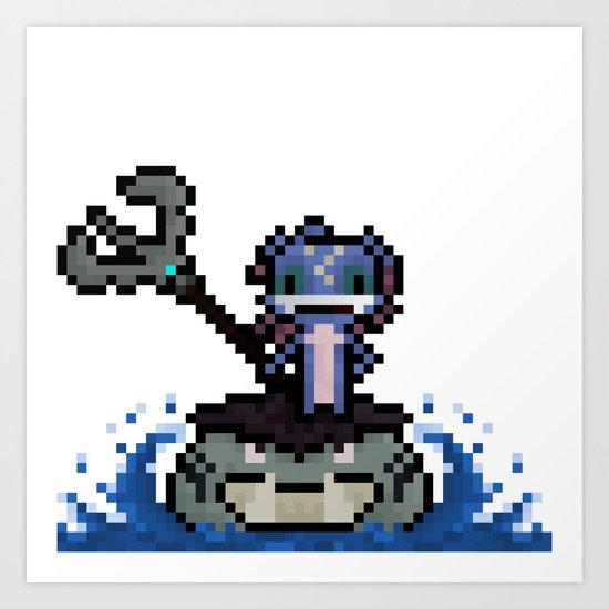 Fizz, The Pixel Trickster Art Print
