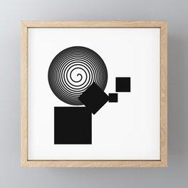 Minimalist fallout Framed Mini Art Print