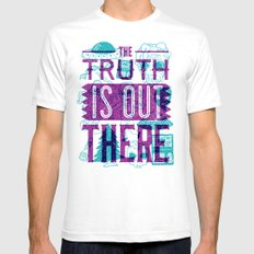 The Truth is Out There Mens Fitted Tee White SMALL