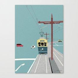 Tram, Nagasaki Canvas Print