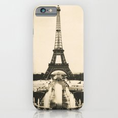 Eiffel Tower - Vintage Post card iPhone 6s Slim Case