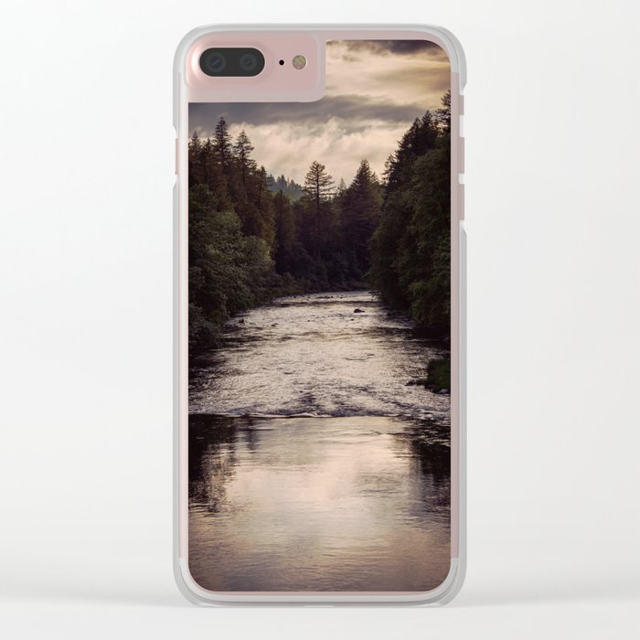 River Reflections Clear iPhone Case