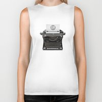 writing Biker Tanks featuring writing while you type... by Flying Dutchman