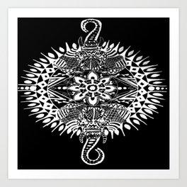 Elephant Mandala (Inverted) Art Print