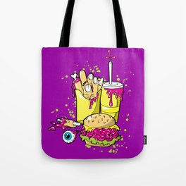 ZOMBIE MEAL - 80'S Halloween horror Tote Bag