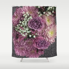 Purple & Pink Bouquet Shower Curtain