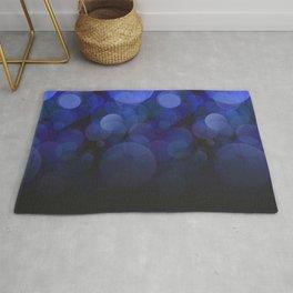 Blue Circles abstract design Rug