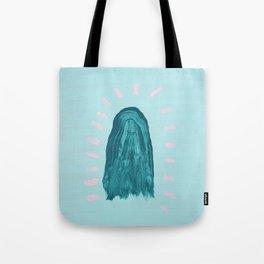 Teal Ghost Tote Bag