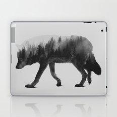 The Wolf (black & white version) Laptop & iPad Skin