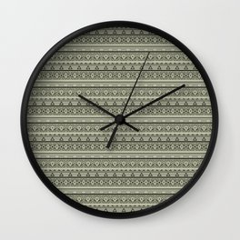 Grey , brown , ethnic , ornament , tribal , ethnic Wall Clock