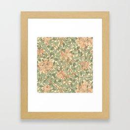 William Morris Honeysuckle Framed Art Print