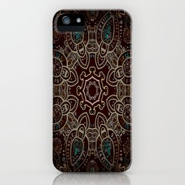 Earth Tones Mandala iPhone Case