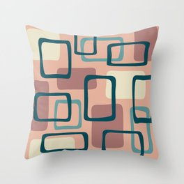 Mid Century Modern Abstract Squares Pattern 445 Throw Pillow