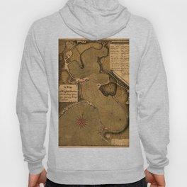 Map Of Antigua 1745 Hoody
