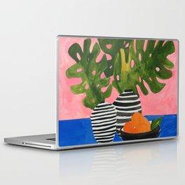 Pink Wall Monstera Laptop & iPad Skin