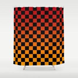 Chessboard Gradient V Shower Curtain