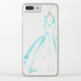The Turquoise Dress Clear iPhone Case