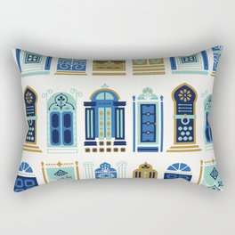 Moroccan Doors – Blue & Gold Palette Rectangular Pillow