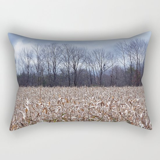 Field of Corn left Behind Rectangular Pillow