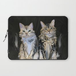 Marble Meows Laptop Sleeve