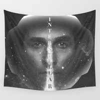 interstellar Wall Tapestries featuring Interstellar  by Laura Racero