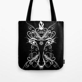 Baphomet Damask Occult Goth Art Tote Bag