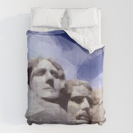 Mount Rushmore in Triangles Comforters