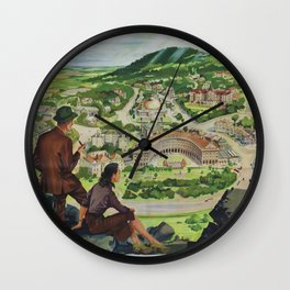 Buxton Vintage Travel Poster Wall Clock