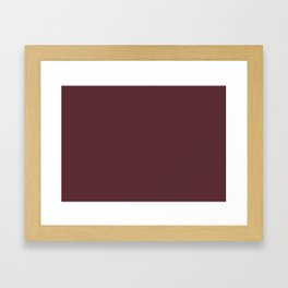 Tawny Port | Pantone Fashion Color Fall : Winter 2017 | Solid Color Framed Art Print