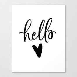 HELLO LOVE by DearLilyMae Canvas Print