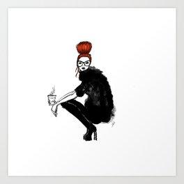 Redhead fashion model Art Print