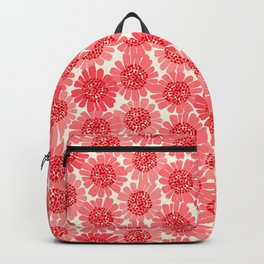 Coral Floral Backpack